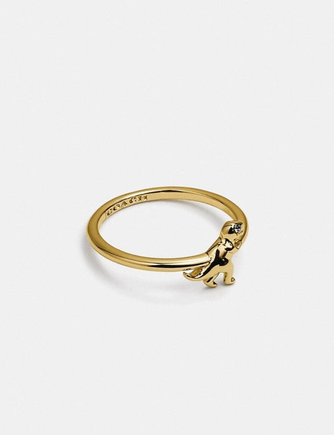 Coach Rexy Ring Gold null