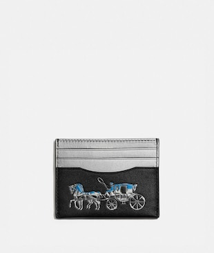 CARD CASE WITH HORSE AND CARRIAGE