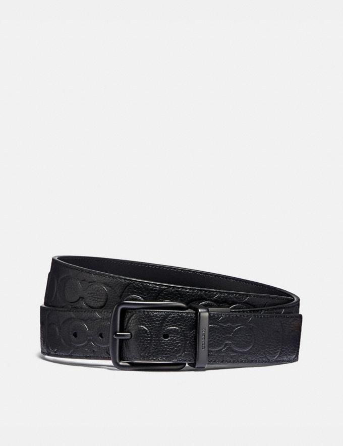 Coach Roller Buckle Cut-To-Size Reversible Belt, 38mm Black Men Accessories Belts