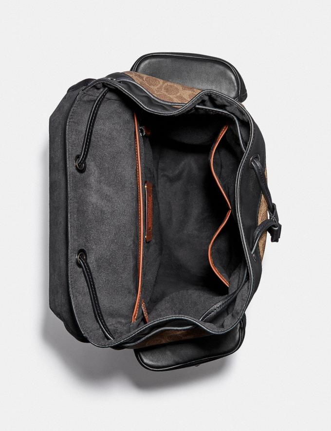 Coach Hitch Backpack in Signature Canvas With Horse and Carriage Print Black Copper/Truffle Multi Men Bags Backpacks Alternate View 2