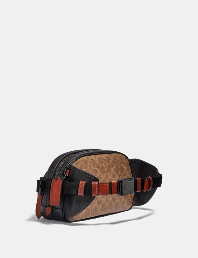 Coach Hitch Belt Bag in Signature Canvas With Horse and Carriage Print Black Copper/Truffle Multi Men Bags Belt Bags Alternate View 1