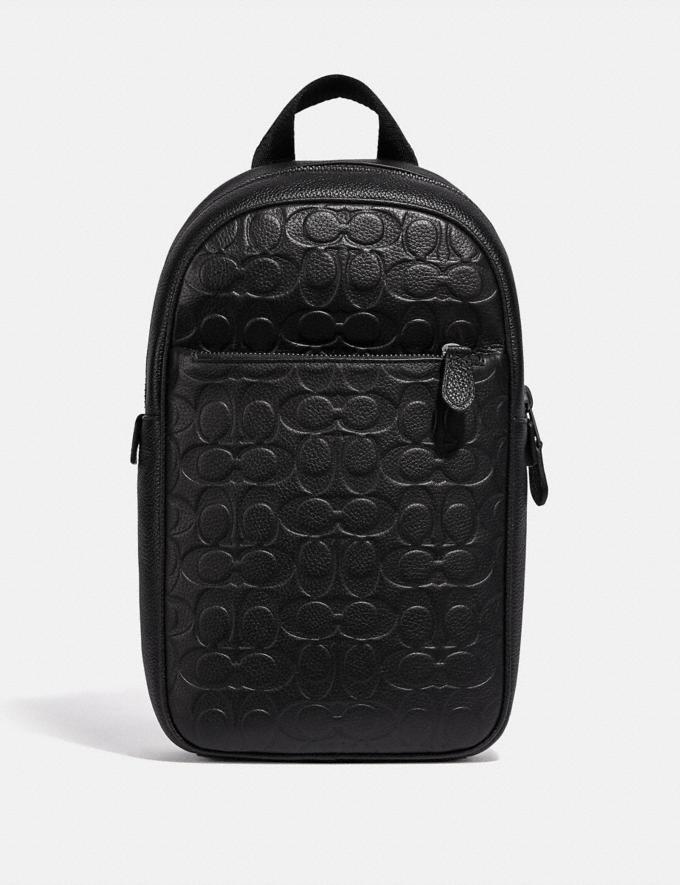 Coach Metropolitan Soft Pack in Signature Leather Black Antique Nickel/Black New Men's New Arrivals Bags