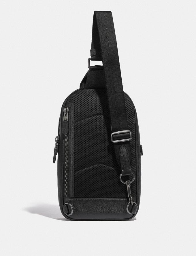 Coach Metropolitan Soft Pack in Signature Leather Black Antique Nickel/Black New Men's New Arrivals Bags Alternate View 1