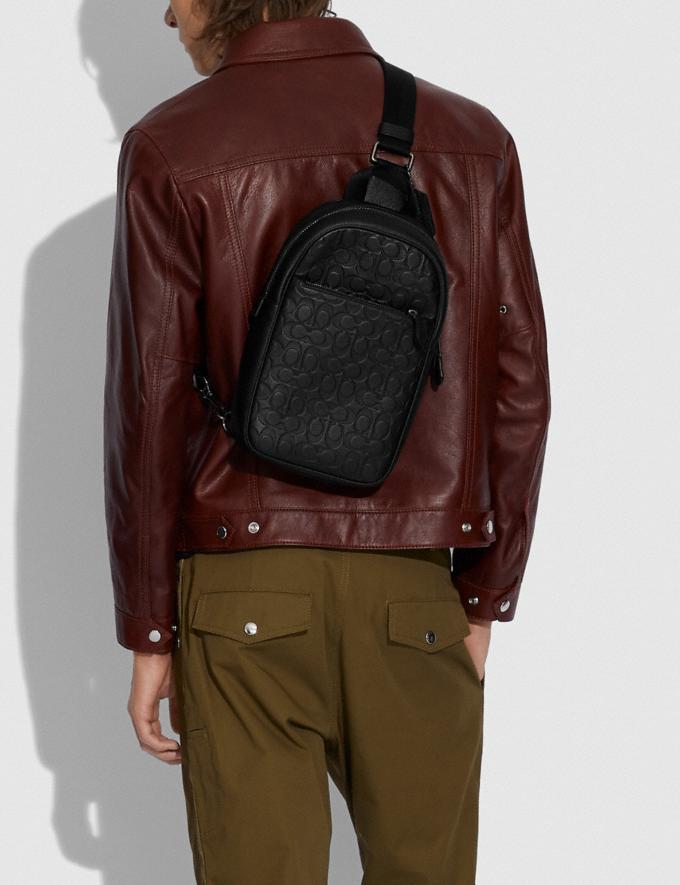 Coach Metropolitan Soft Pack in Signature Leather Black Antique Nickel/Black New Men's New Arrivals Bags Alternate View 3