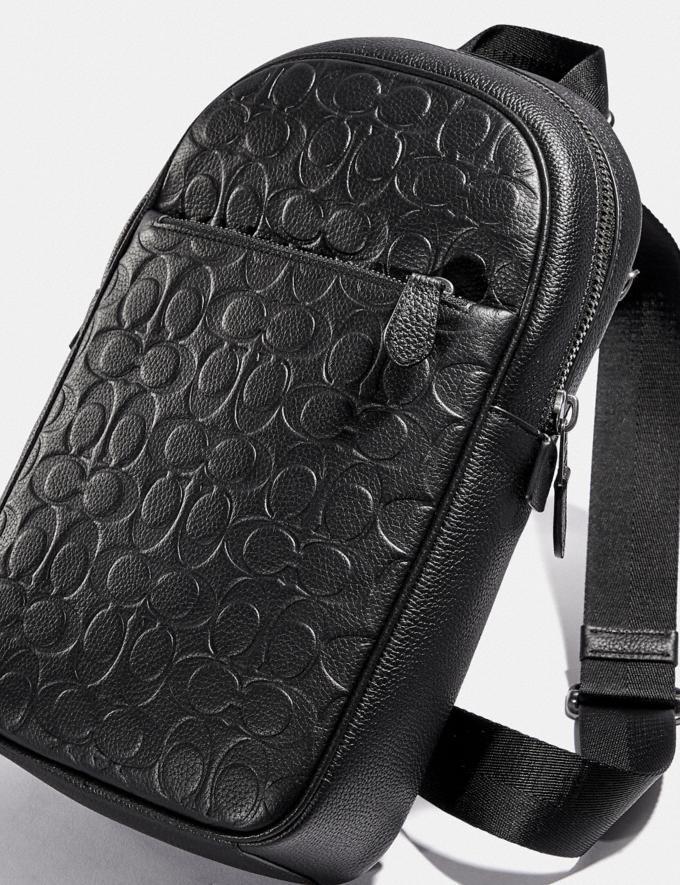 Coach Metropolitan Soft Pack in Signature Leather Black Antique Nickel/Black New Men's New Arrivals Bags Alternate View 4