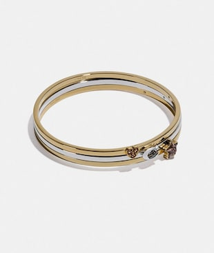 CRYSTAL STAR HEART SIGNATURE BANGLE SET
