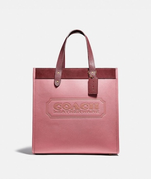 BORSA LARGA FIELD A BLOCCHI DI COLORE CON LOGO COACH
