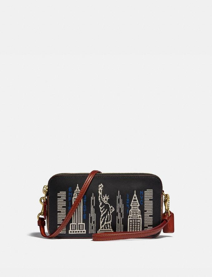 Coach Kira Crossbody With Stardust City Skyline Brass/Black Gifts For Her Under £250