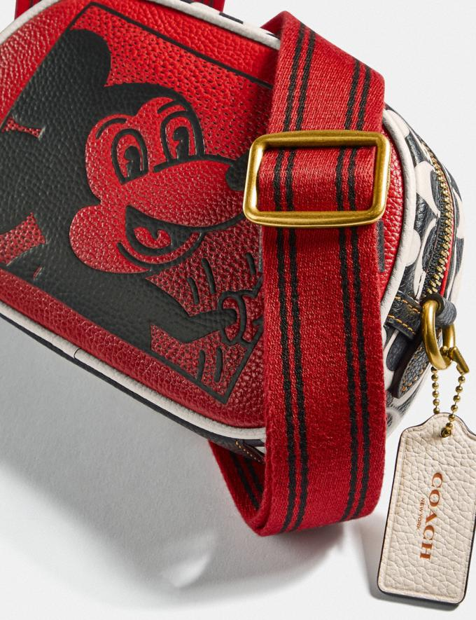 Coach Disney Mickey Mouse X Keith Haring Badge Camera Crossbody B4/Electric Red Multi Women Bags Crossbody Bags Alternate View 4