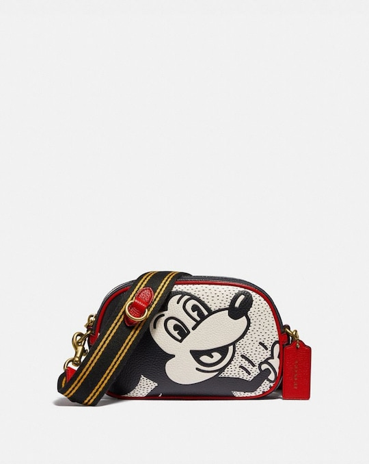 SAC BANDOULIÈRE CAMÉRA À BADGE DISNEY MICKEY MOUSE X KEITH HARING