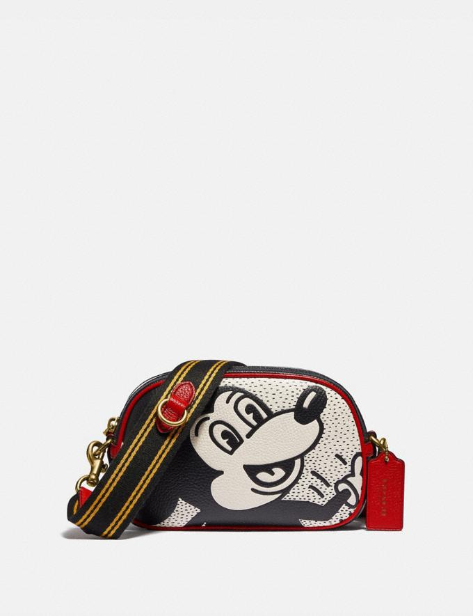 Coach Disney Mickey Mouse X Keith Haring Badge Camera Crossbody B4/Chalk Multi Women Bags Crossbody Bags