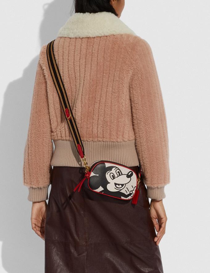 Coach Disney Mickey Mouse X Keith Haring Badge Camera Crossbody B4/Chalk Multi Women Bags Crossbody Bags Alternate View 3