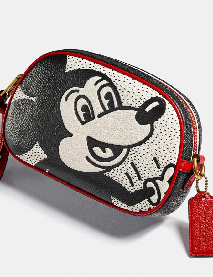 Coach Disney Mickey Mouse X Keith Haring Badge Camera Crossbody Brass/Chalk Multi New Featured Disney x Keith Haring Alternate View 4