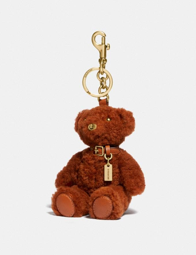 Coach Bear Bag Charm Brass/Ginger Gift For Her Under €250