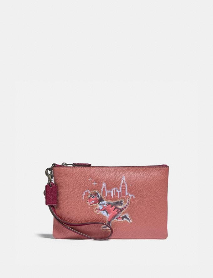 Coach Small Wristlet With Rexy V5/Vintage Pink Gifts For Her Under £100