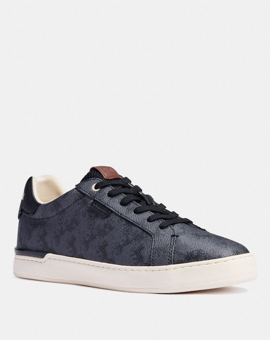 LOWLINE LOW TOP SNEAKER WITH HORSE AND CARRIAGE PRINT