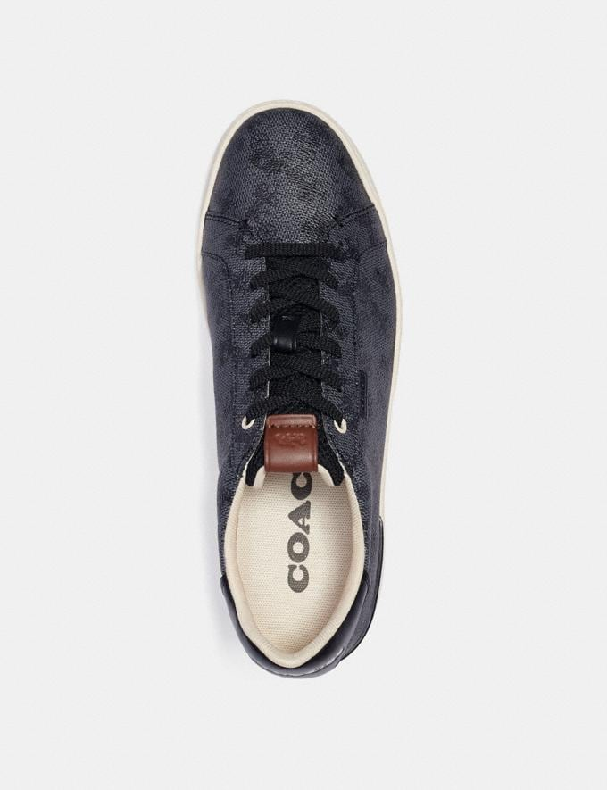 Coach Lowline Low Top Sneaker With Horse and Carriage Print Blue Steel  Alternate View 2