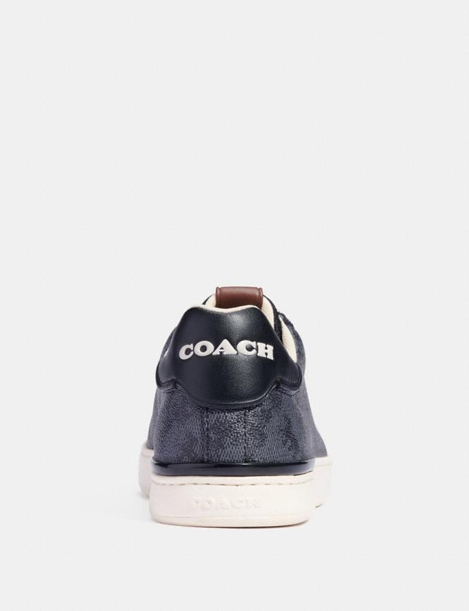Coach Lowline Low Top Sneaker With Horse and Carriage Print Blue Steel  Alternate View 3