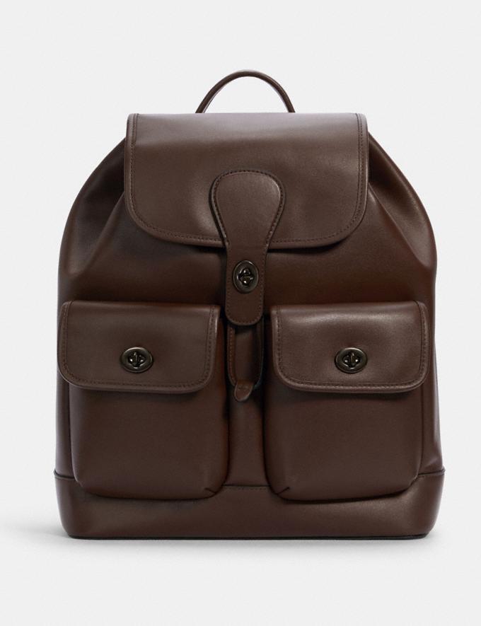 Coach Heritage Backpack Qb/Dark Teak DEFAULT_CATEGORY