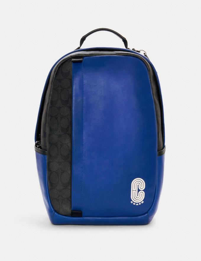 EDGE BACKPACK IN COLORBLOCK SIGNATURE CANVAS