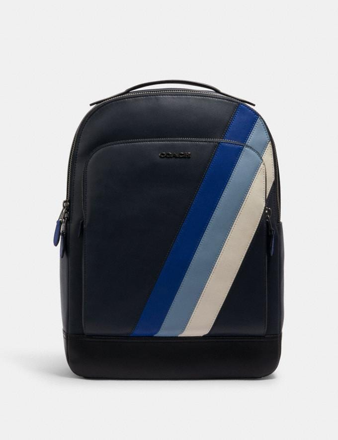 GRAHAM BACKPACK WITH DIAGONAL STRIPE