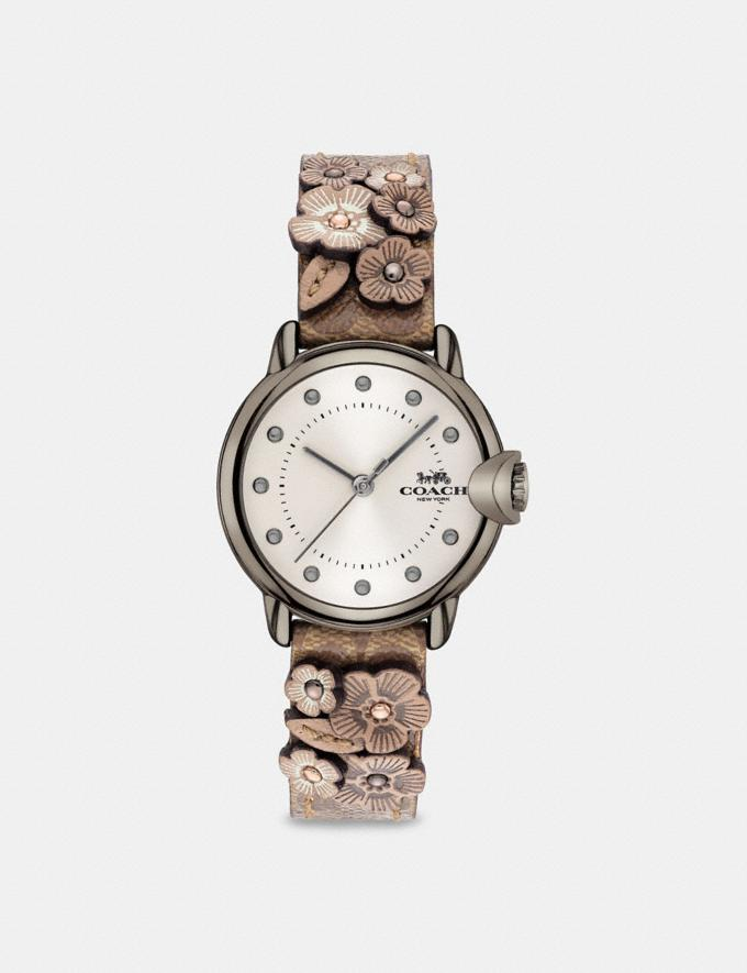 Coach Arden Watch, 28mm Tan Multi New Women's New Arrivals Accessories