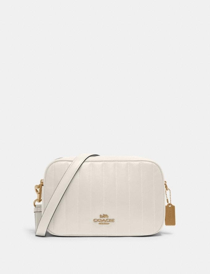 Coach Jes Crossbody With Linear Quilting Im/Chalk Deals Under $200