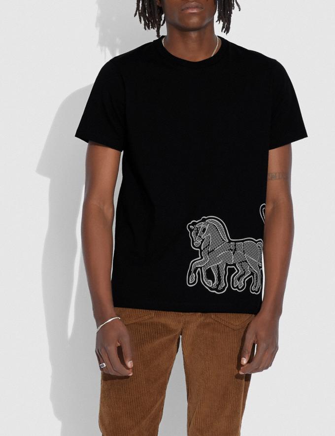 Coach Camiseta Con Motivo Del Caballo Y El Carruaje Negro Hombre Prendas Partes superiores e inferiores Vistas alternativas 1