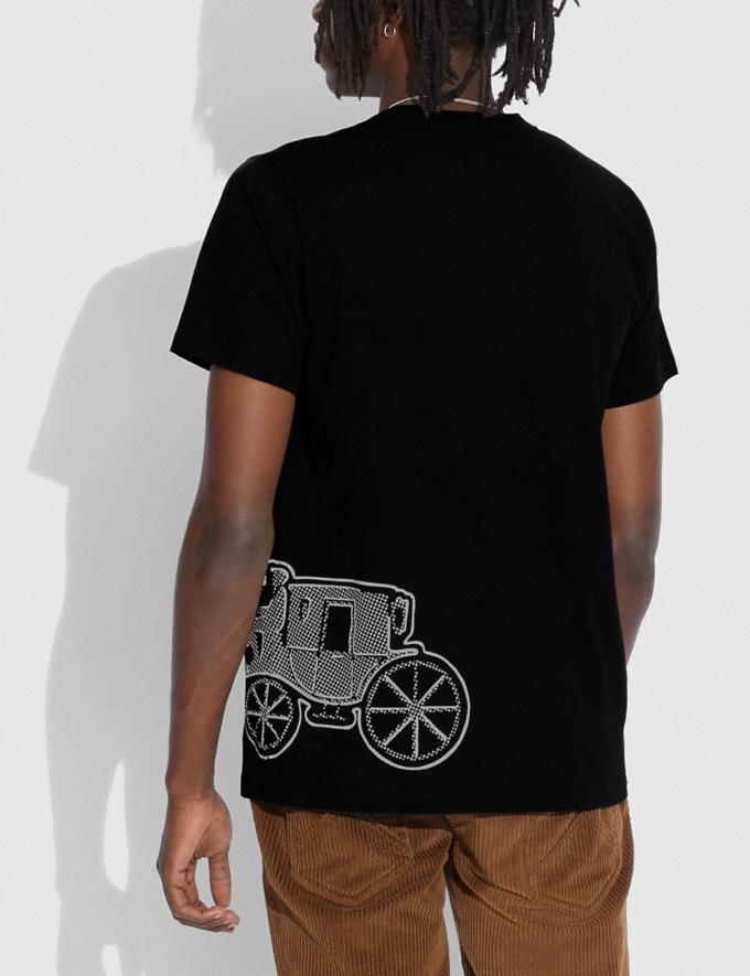 Coach Camiseta Con Motivo Del Caballo Y El Carruaje Negro Hombre Prendas Partes superiores e inferiores Vistas alternativas 2
