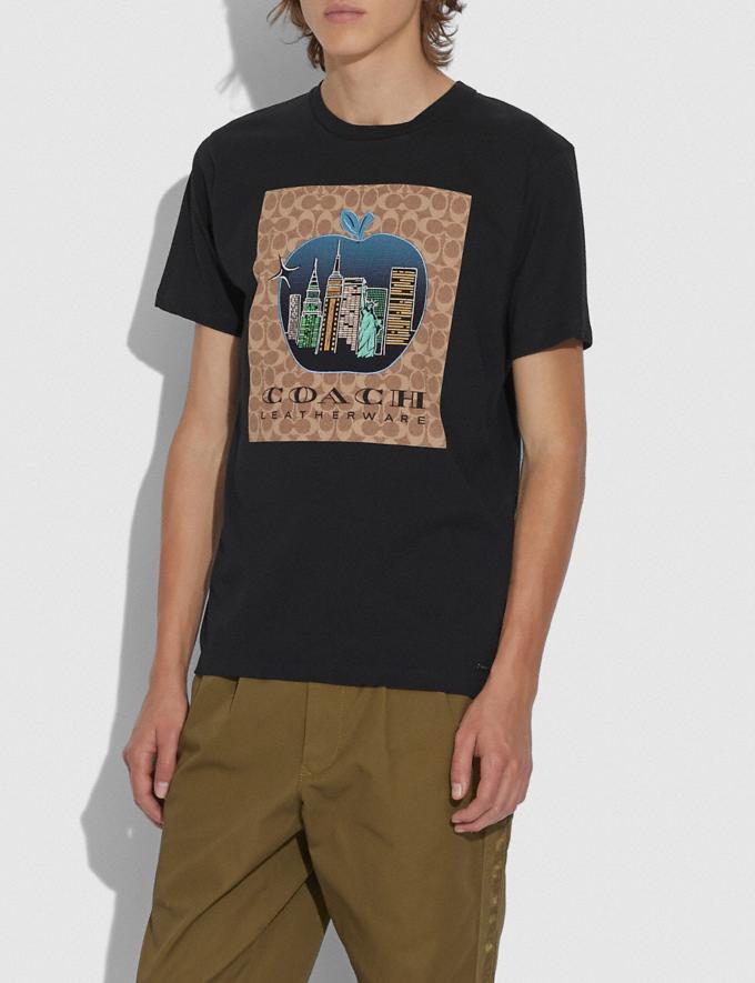 Coach Charakteristisches T-Shirt Mit Apfel Schwarz Herren Kleidung Oberteile & Hosen Alternative Ansicht 1