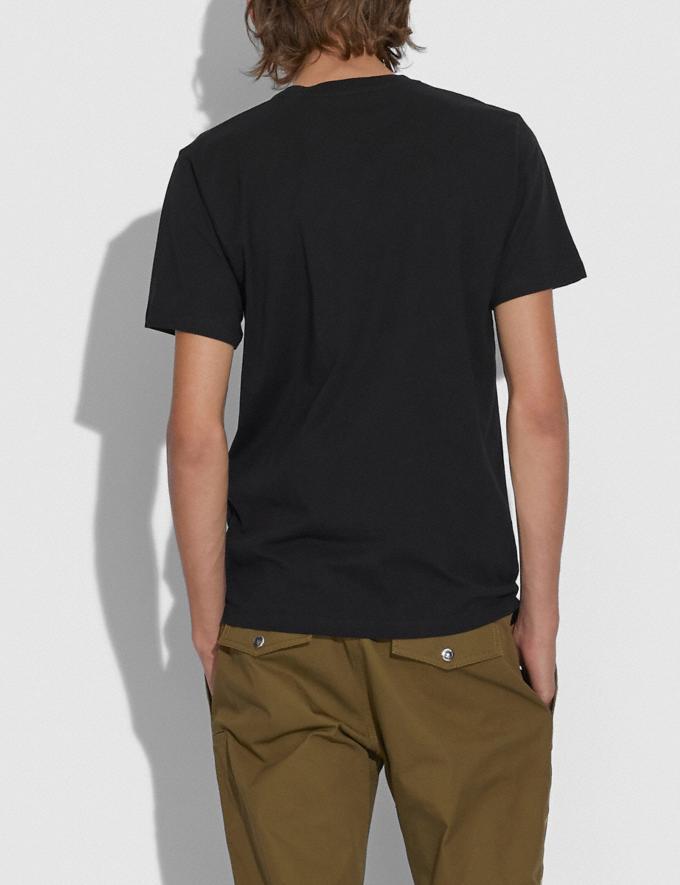 Coach Apple Signature T-Shirt Black Men Ready-to-Wear Tops & Bottoms Alternate View 2
