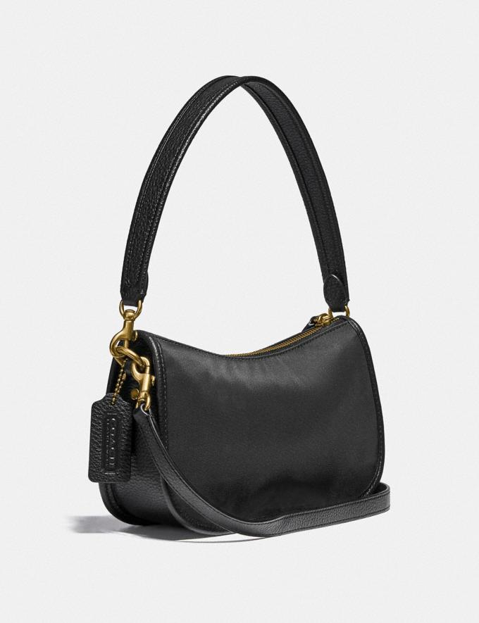 Coach Swinger Bag in Nylon Brass/Black  Alternate View 1