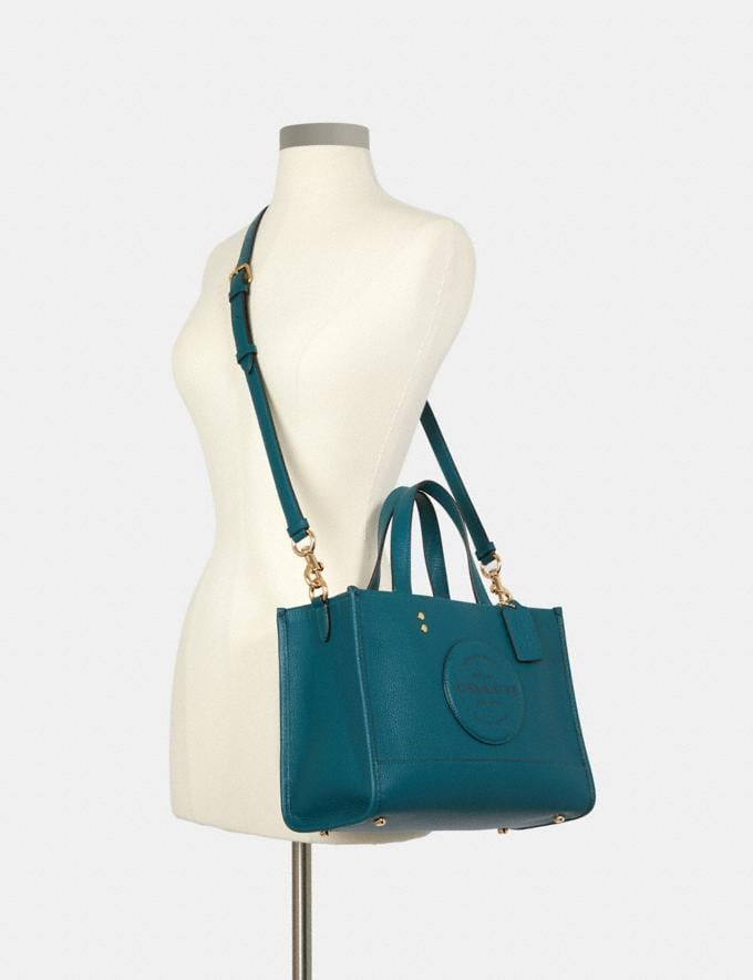 Coach Dempsey Carryall With Patch Im/Teal Ink DEFAULT_CATEGORY Alternate View 3