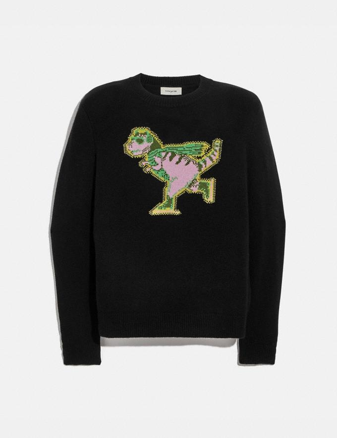 Coach Rexy Intarsia Sweater Black Men Ready-to-Wear Clothing