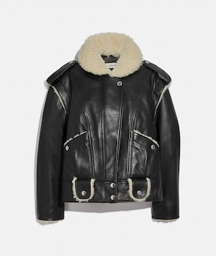 GIACCA IN SHEARLING E PELLE