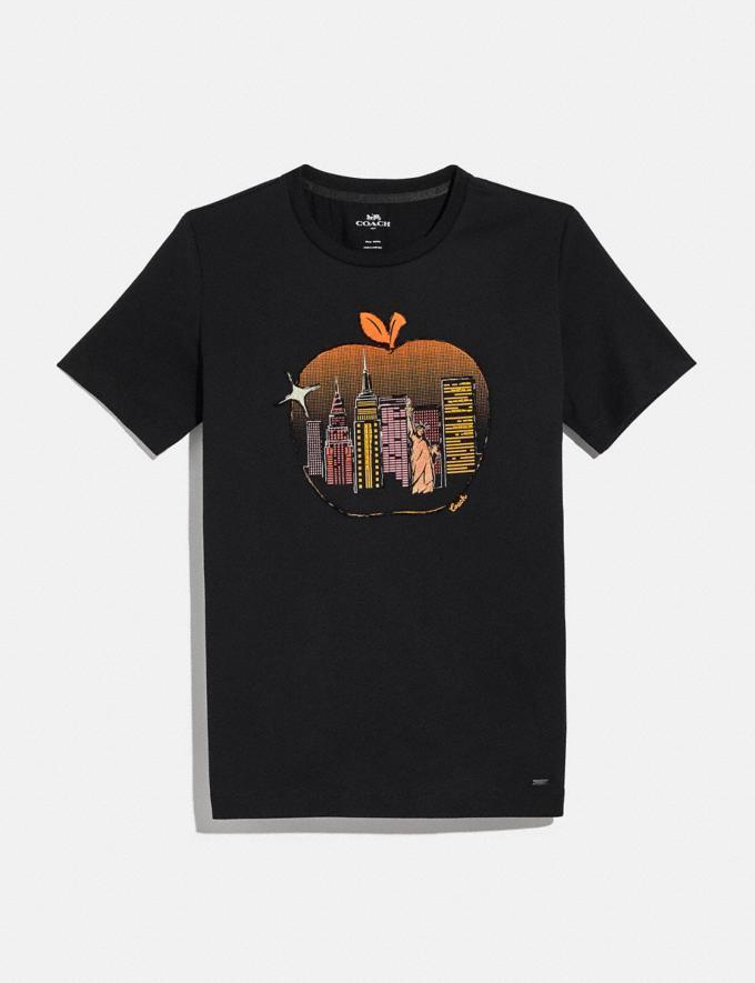 Coach Apple Skyline T-Shirt Black Women Ready-to-Wear Tops & T-shirts