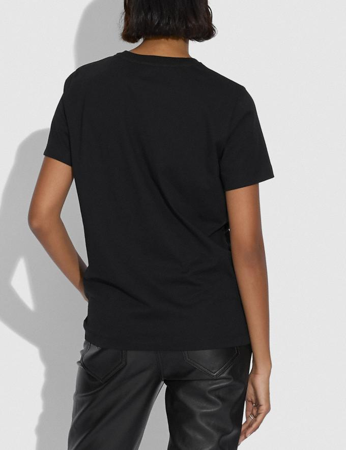 Coach Apple Skyline T-Shirt Black Women Ready-to-Wear Tops & T-shirts Alternate View 2