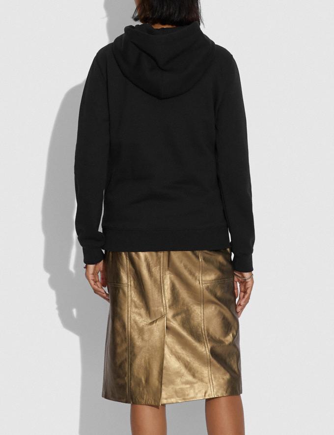 Coach Apple Skyline Hoodie Black Women Ready-to-Wear Knitwear & Sweatshirts Alternate View 2