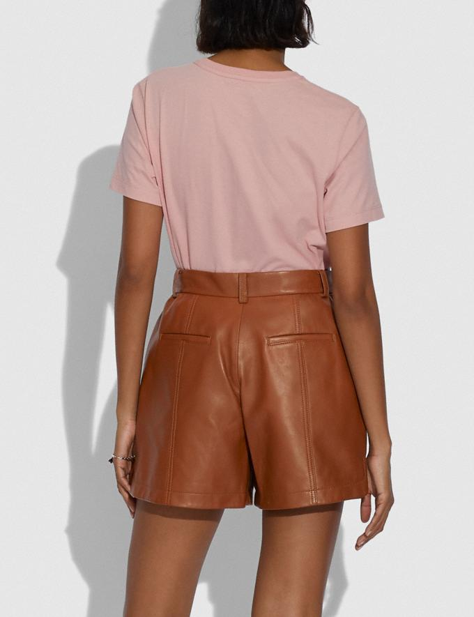Coach Leather Shorts Saddle Women Ready-to-Wear Bottoms Alternate View 2
