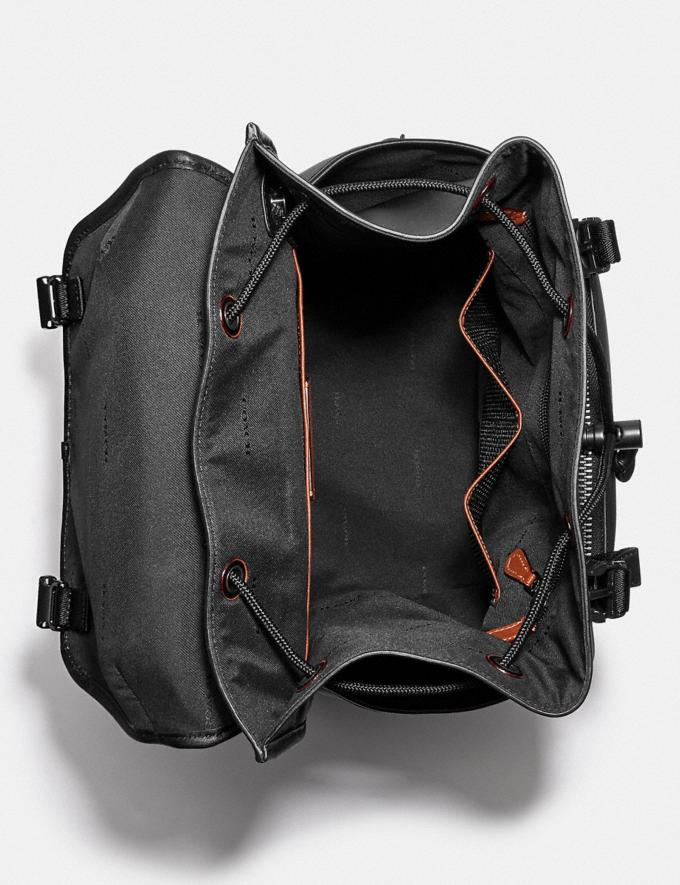 Coach League Flap Backpack Black Copper/Black  Alternate View 2