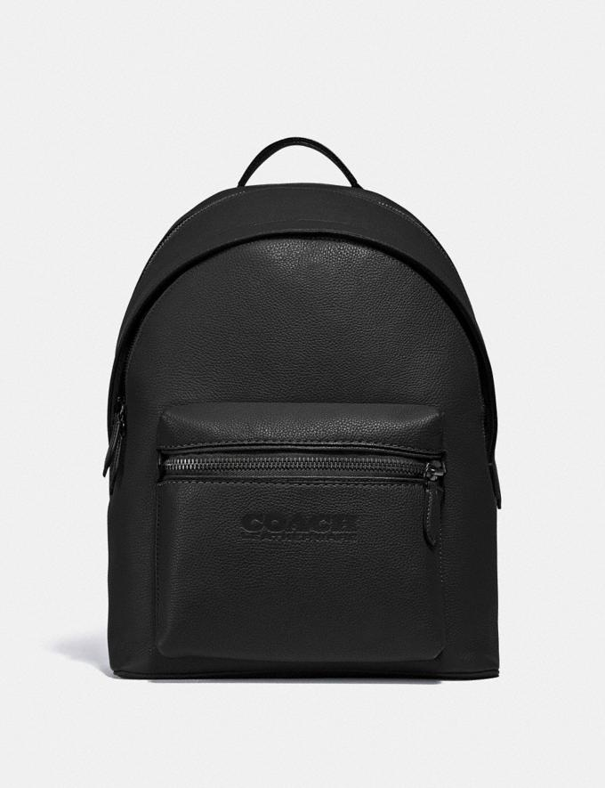 Coach Charter Backpack Black Copper/Black New Men's New Arrivals Bags