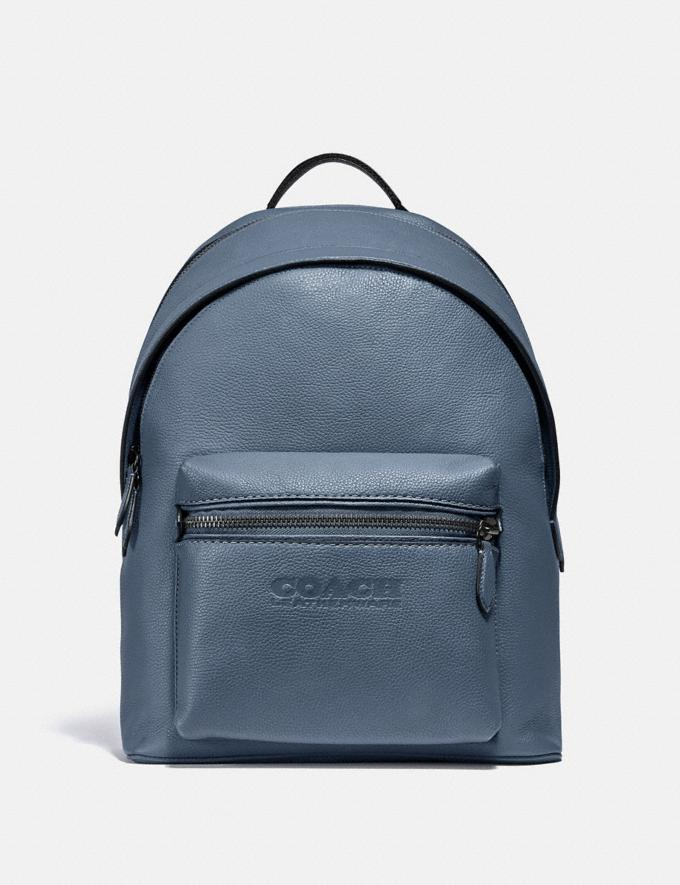 Coach Charter Backpack Black Copper/Blue Quartz New Men's New Arrivals Bags