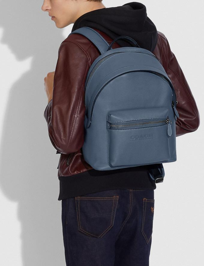 Coach Charter Backpack Black Copper/Blue Quartz New Men's New Arrivals Bags Alternate View 4
