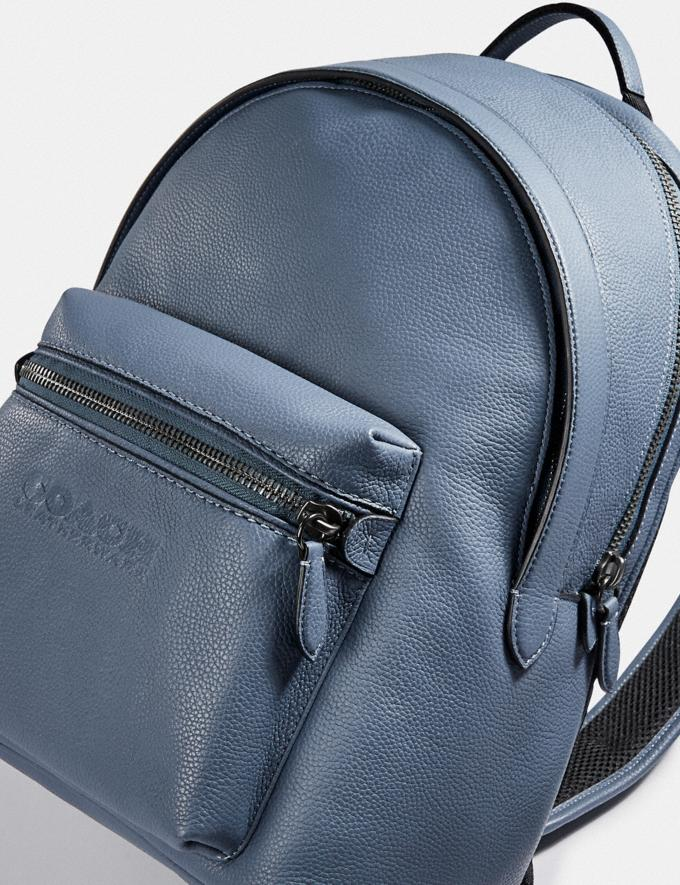 Coach Charter Backpack Black Copper/Blue Quartz New Men's New Arrivals Bags Alternate View 5