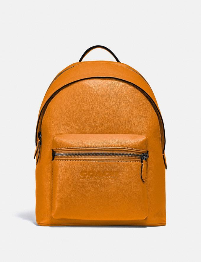 Coach Charter Backpack Black Copper/Butterscotch New Men's New Arrivals Bags