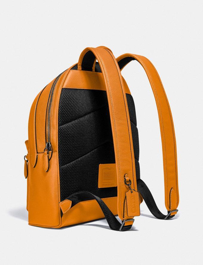 Coach Charter Backpack Black Copper/Butterscotch New Men's New Arrivals Bags Alternate View 1