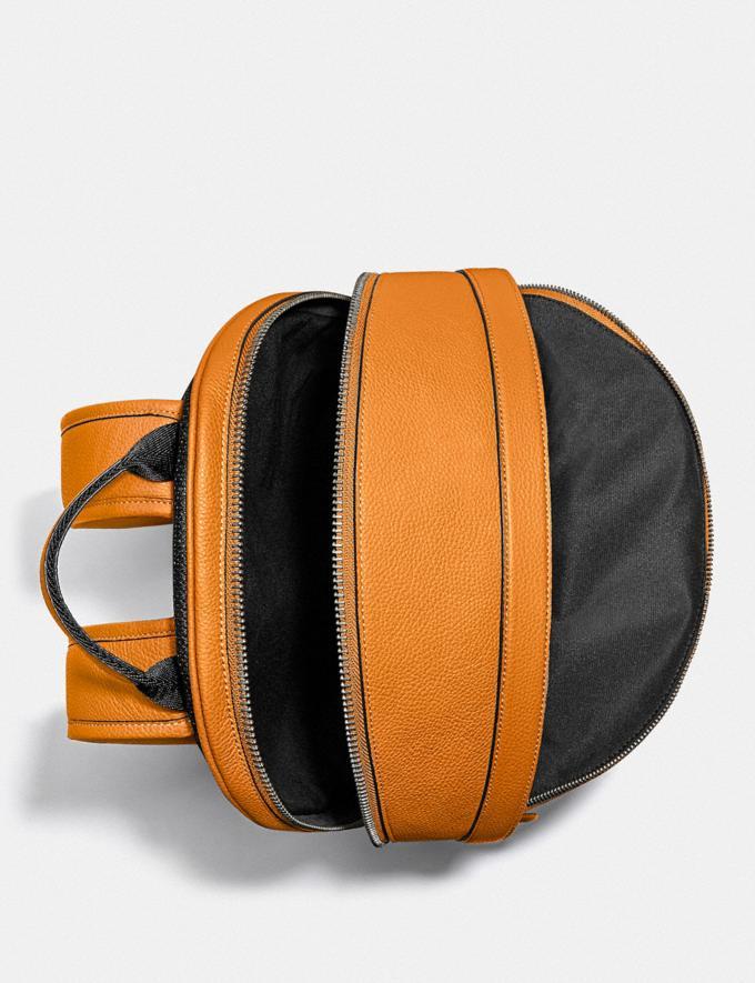 Coach Charter Backpack Black Copper/Butterscotch New Men's New Arrivals Bags Alternate View 2