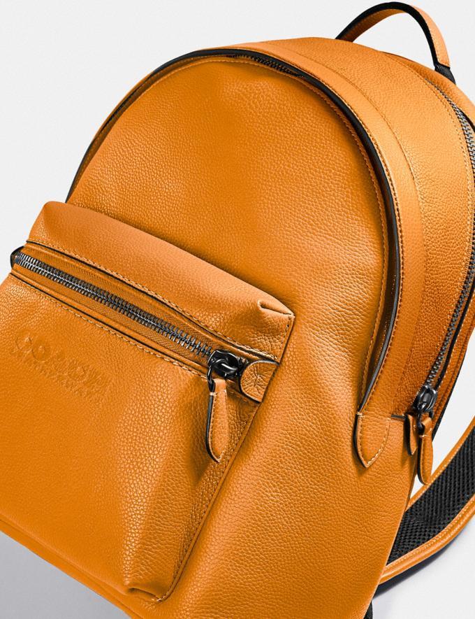 Coach Charter Backpack Black Copper/Butterscotch New Men's New Arrivals Bags Alternate View 3