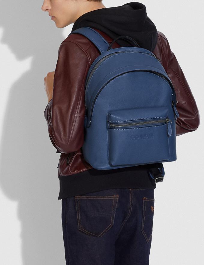 Coach Charter Backpack Ji/Deep Blue DEFAULT_CATEGORY Alternate View 3