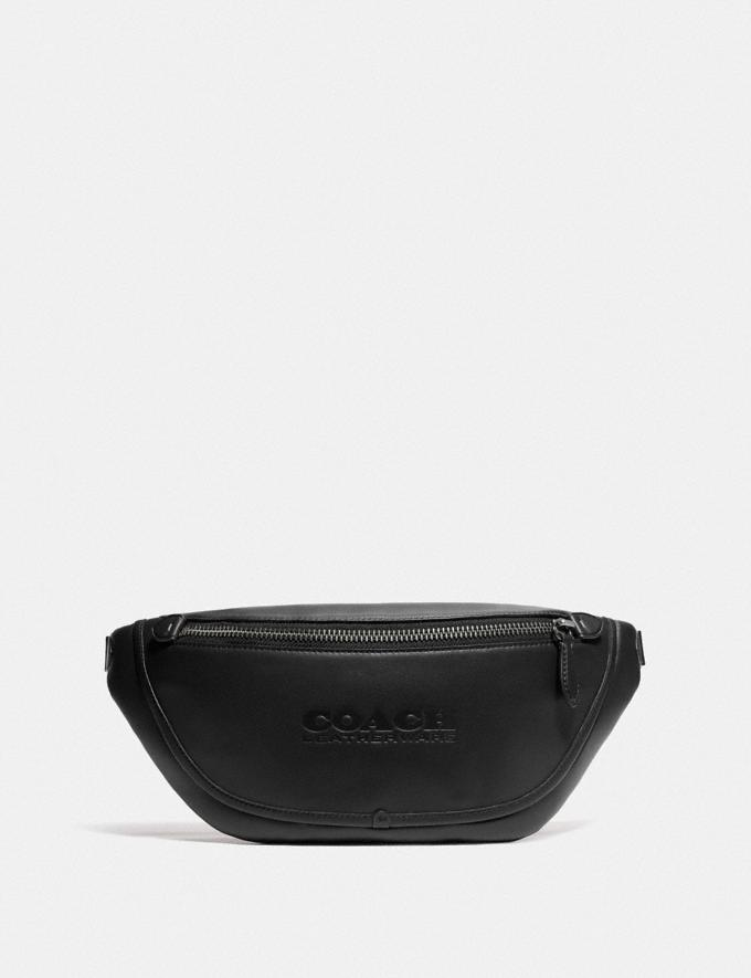 Coach League Belt Bag Black Copper/Black New Men's New Arrivals Bags